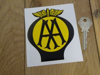 "AA Old Style Car Sticker. 2.5"", 4"" or 8""."