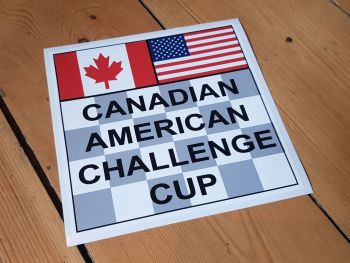 "Canadian American Challenge Cup Sticker - 4"" or 7"""