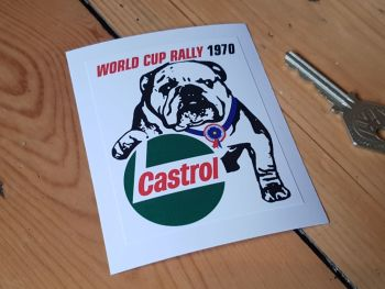 World Cup Rally 1970 Castrol Bulldog Sticker 2.75""