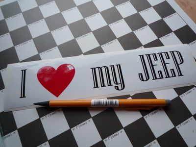 I Love My Jeep Bumper Sticker 9