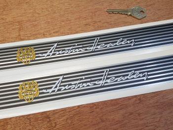 Austin Healey Narrow Kick Plate Protector Stickers - 575mm x 38mm Pair