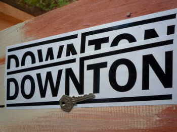 "Downton Text Cut Vinyl Stickers. 10"" or 12"" Pair."