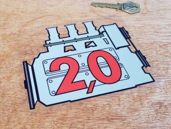 """Porsche 911 Engine Displacement Window Sticker - Grey - 5"""""""