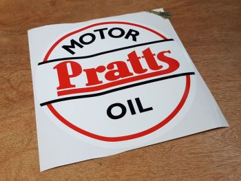 Pratts Motor Oil Old Style Round Sticker 12""
