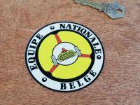 Equipe Nationale Belge Old Style Window Sticker. 90mm.