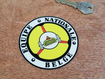 Equipe Nationale Belge Old Style Window Sticker. 90mm.