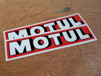 "Motul Shaded Text Narrow Oblong Stickers 10"" Pair"