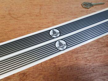 Cobra Narrow Kick Plate Protector Stickers - 400mm x 25mm Pair