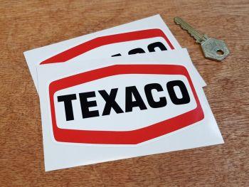 Texaco Plain Text Logo Stickers - Various Sizes