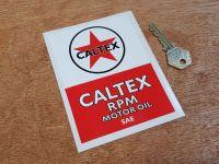Caltex RPM Motor Oil Sticker 4.75