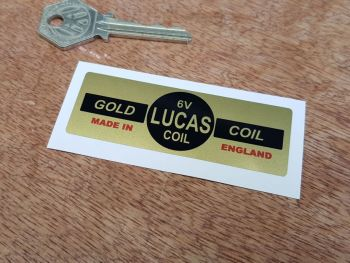 Lucas Gold Coil Sticker. 6V. 25.
