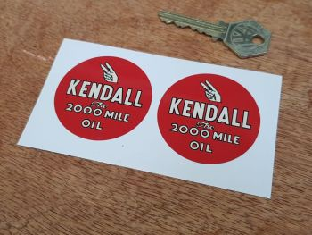 """Kendall Oil Stickers 2"""" Pair"""