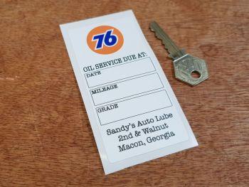 """Union 76 Sandy's Auto Lube Oil Service Sticker 4.25"""""""