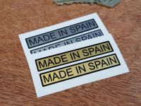 Made in Spain Oblong Stickers - 2.5