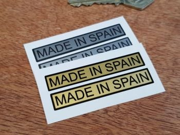 "Made in Spain Oblong Stickers - 2.5"" Pair"
