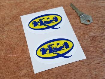 "Duckhams Q Racing Car Oil Stickers 3"" Pair"