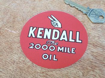 """Kendall Oil Window Sticker 3.25"""""""