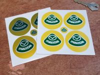Mazda Lotus Style Wheel Centre Stickers. Set of 4. 50mm or 55mm.