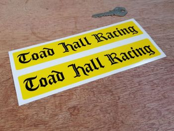 "Toad Hall Racing Stickers 8"" Pair"