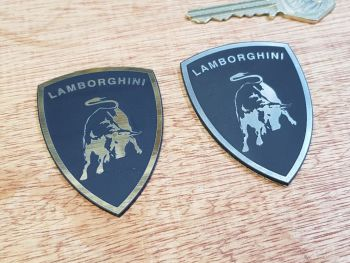 "Lamborghini Shield Laser Cut Self Adhesive Car Badge. 2.5""."