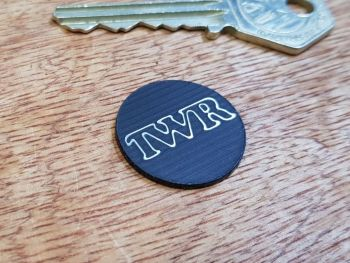 TWR  Circular Self Adhesive Car Badge - 15mm or 39mm
