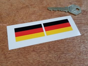 German Flag Oblong Stickers. 45mm Pair.