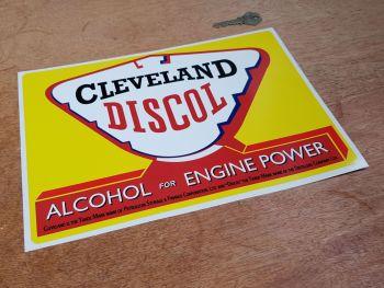 "Cleveland Discol Alcohol for Engine Power Sticker 12"""
