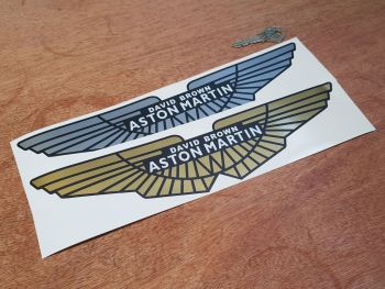 "Aston Martin David Brown Style Winged Logo Sticker. 12""."