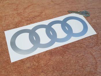 "Audi Hoops Cut Vinyl 8"" Pair"