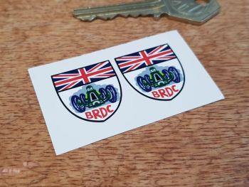 "BRDC Shield Shaped Stickers 1"" Pair"