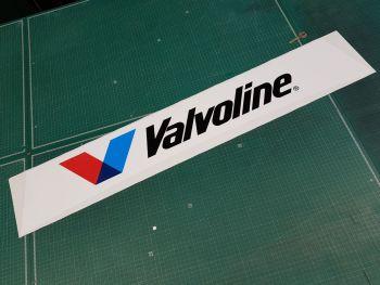 """Valvoline Curved Screentop Single V Style Sticker. 42""""."""