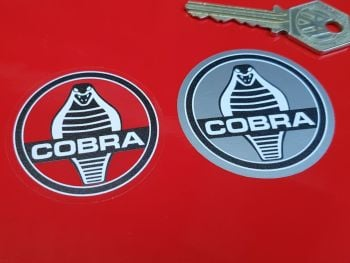 "AC Cobra Monochrome Stickers 2"" Pair"