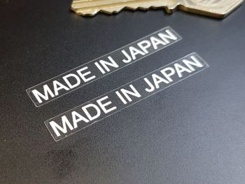 Made in Japan Text Window Stickers 55mm Pair