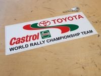 Toyota & Castrol World Rally Championship Sticker - 6