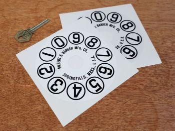 """Gilbert & Barker Pump Dial Face Sticker 4.5"""""""