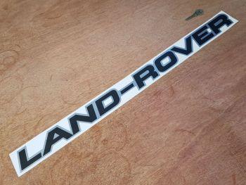 "Land Rover Black & Silver Sticker 25.5"""