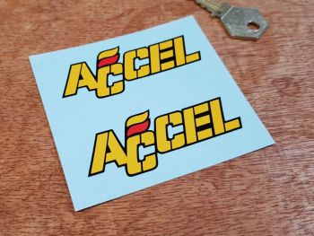 """Accel Text Stickers 3"""" Pair"""