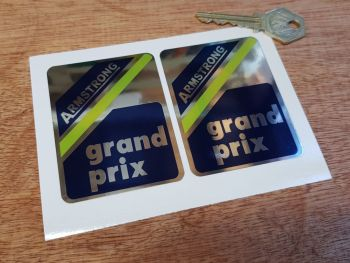 Armstrong Grand Prix Shock Absorber Stickers. 75mm Pair.