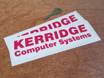 "Kerridge Computer Systems Stickers - 8"" Pair"