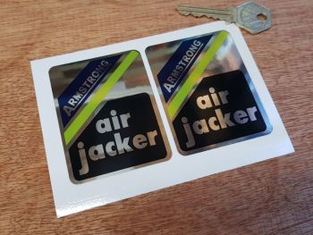 Armstrong Air Jacker Black Shock Absorber Stickers. 75mm Pair.