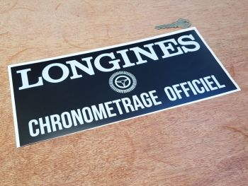 Longines Chronometrage Officiel Sticker 12""