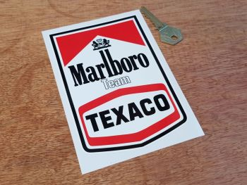 Marlboro Team Texaco Sticker 6""
