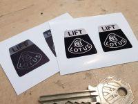 """Lotus Kangol Style Seat Belts Lift Shaped Stickers. 1"""" Pair."""