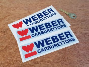 "Weber Carburettors Stickers 6"" Pair"