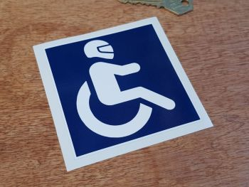 Disabled Racing Driver Sticker 3.5""