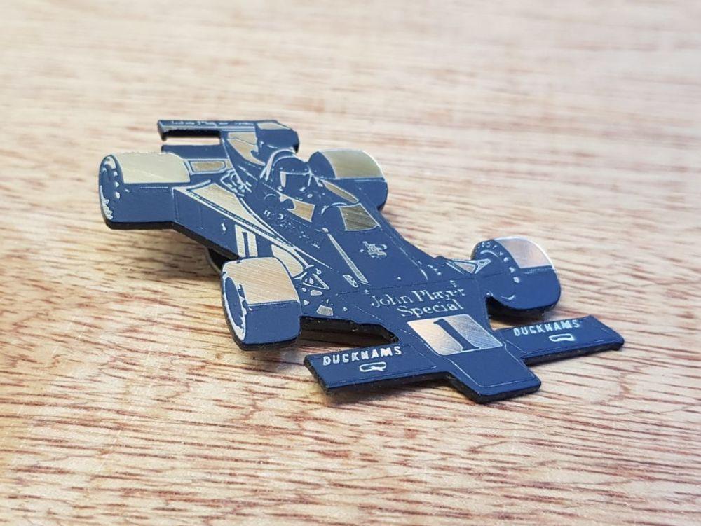 John Player Lotus Race Car Pin Badge