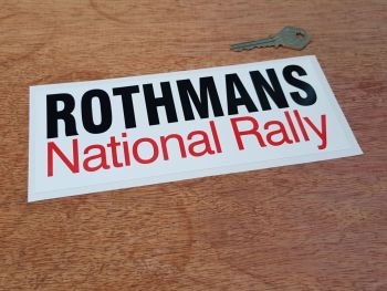 Rothmans National Rally Sticker 8""