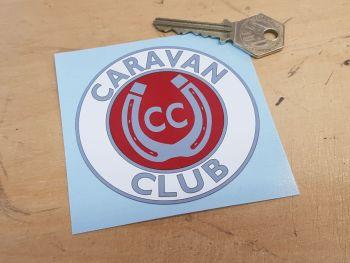 Caravan Club Horseshoe Sticker 80mm