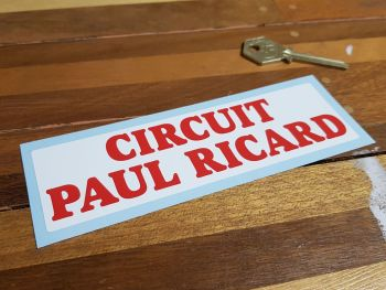 Circuit Paul Ricard Red Text Sticker 6""