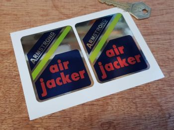 Armstrong Air Jacker Shock Absorber Stickers. 75mm Pair.